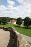 View from Castle Moritzburg on the lake Stock Image