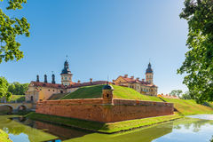 View of the castle Nesvizh in Belarus Royalty Free Stock Images