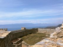 View from castle ohrid macedonia royalty free stock photos