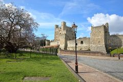 View of the Castle in Rochester. UK Stock Images