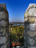 The View From Castle Rock. On mouth of Sava and Danube, Belgrade Royalty Free Stock Photo