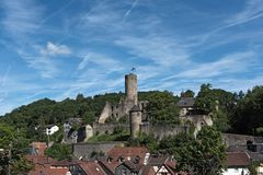 View of the castle ruin Eppstein in Hesse, Germany.  royalty free stock images