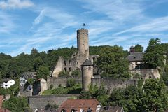 View of the castle ruin Eppstein in Hesse, Germany.  royalty free stock photography