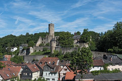 View of the castle ruin Eppstein in Hesse, Germany Stock Image