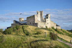 View of the castle ruins of the Livonian order August evening. Rakvere Royalty Free Stock Image