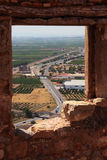 View from the castle of Sagunto Royalty Free Stock Image