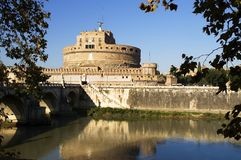 View of Castle Sant'Angelo, Rome Royalty Free Stock Photos
