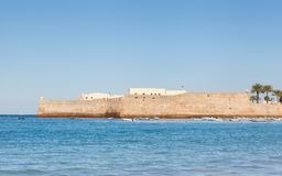 The Castle of Santa Catalina in Cadiz. A view of the castle of Santa Catalina in Cadiz, Spain Royalty Free Stock Images