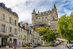 View at the castle in Saumur. Stock Photo