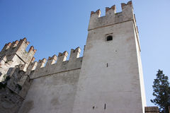 View of The castle of Sirmione on Lake Garda Royalty Free Stock Photography