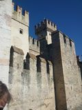 Sirmione castle italy royalty free stock photo