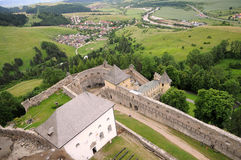 View from the castle in Slovakia Royalty Free Stock Photos