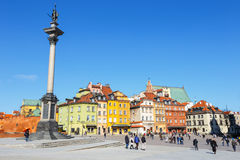 View of Castle Square with Sigismund column in the Old Town in Warsaw, Poland Royalty Free Stock Image