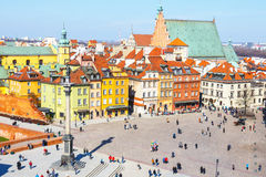 View of Castle Square with Sigismund column in the Old Town in Warsaw, Poland Royalty Free Stock Photos