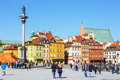 View of Castle Square with Sigismund column in the Old Town in Warsaw, Poland Royalty Free Stock Photo