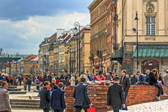 View of the Castle Square to the Trakt Krolewski Royalty Free Stock Photo