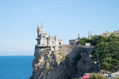 View of the castle swallow's nest on the cliff of AI-Todor. Crimea, Yalta Stock Images