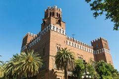 View of the Castle of the Three Dragons Castell dels Tres Drago Stock Images