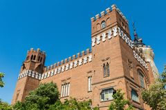 View of the Castle of the Three Dragons Castell dels Tres Drago Stock Image