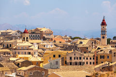 View from castle to Corfu-Town, Kerkyra in Greece Stock Image