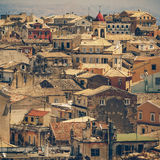 View from castle to Corfu-Town Stock Photos