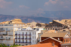 View from castle to Corfu-Town Royalty Free Stock Image