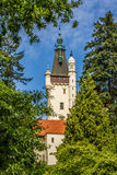 View of Castle Tower-Pruhonice,Czech Rep. Stock Photos