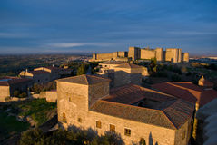 View of the castle in Trujillo (Spain). View of Trujillo with the castle in the background Royalty Free Stock Photography