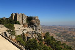 View of the Castle of Venus Erice - Sicily Royalty Free Stock Photo