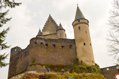 View of the castle of Vianden Stock Image