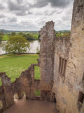 View from Castle Walls, Wiltshire, England royalty free stock photos