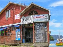View of Castro, in Chiloe, Chile Royalty Free Stock Photos