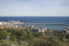 View of Castro Urdiales in Cantabria eastern, nort Stock Photo
