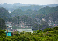 View of Cat Ba islands in Haiphong Royalty Free Stock Photography