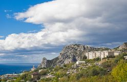 View at Cat Mountain - Crimea, Ukraine. royalty free stock images