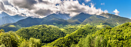 View of the Catalan Pyrenees in France Stock Photo