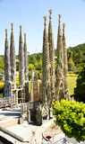 View of Catalunya in miniature, Basilica of the Holy Family. Torrellas del Llobregat, Barcelona royalty free stock images