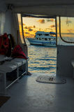 View from a Catamaran Stock Photography