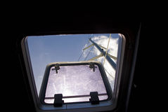 View through catamaran hatch Stock Images