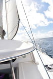 View of catamaran sailing in the sea Stock Image