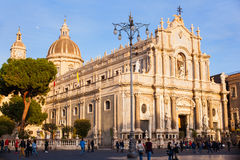 View of Catania cathedral in Sicily Royalty Free Stock Photo