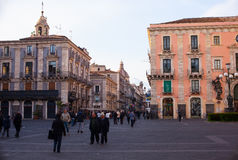 View of Catania street Royalty Free Stock Images