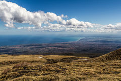 View Catania From Volcano Etna Royalty Free Stock Photos