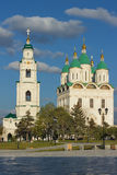 View of the Cathedral of the assumption and of bell tower Stock Photo