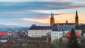 View on the cathedral of Bamberg Royalty Free Stock Photo