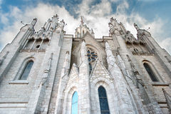View of the cathedral in Barcelona Spain Stock Images