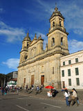 View of the Cathedral in Bogota, Colombia. Stock Photos