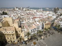 View from cathedral in Cadiz Royalty Free Stock Images