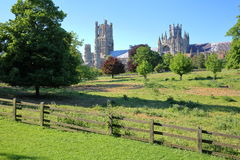 View of the Cathedral from Cherry Hill Park in Ely, Cambridgeshire, Norfolk, UK Stock Images