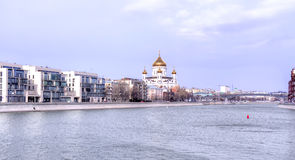 View of the Cathedral of Christ the Savior Stock Photography